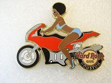 HOUSTON,Hard Rock Cafe Pin,Sexy Biker Girl