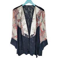 SPENCER ALEXIS Paisley Floral Kimono Jacket Cardigan Top Size 1X