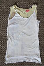 PUMA SPORT T-Shirt D 34, UK 6,LAYER Sportshirt Top TRAINING XS,164 170 weiß gelb
