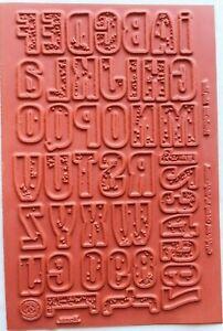 Club Scrap MIRROR MIRROR November 2003 Unmounted Rubber Stamps NEW ~ Alphabet