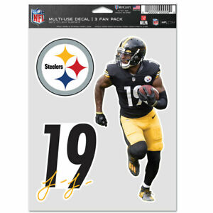 JU JU SMITH-SCHUSTER PITTSBURGH STEELERS 3 PIECE MULTI-USE DECALS NFL LICENSED