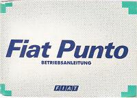 deutsche Betriebsanleitung FIAT PUNTO Handbuch Bordbuch II / 1998