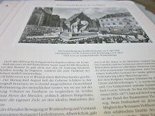 Stuttgart  Archiv 3 Kunst 3059 Einweihung Schillerdenkmal 1839 W. Probuda
