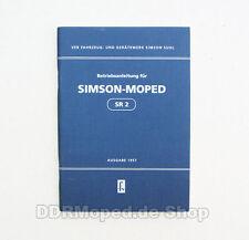 Manual de instrucciones de Sansón sr2 edición 1957 * nuevo *