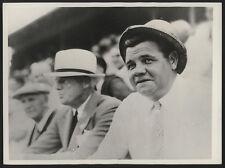 1933 Orig Baseball Wire Photo - The Babe Plays In Honolulu