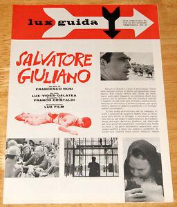 guida pubblicitaria film SALVATORE GIULIANO Francesco Rosi LUX 1961
