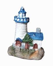 1 Petit phare blanc et bleu figurine La mer mariage decoration de table dragee