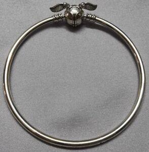 "Pandora x HP Golden Snitch Harry Potter Bangle 598619C00 SIZE 8.3"" S925ALE"