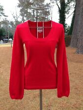 OLD NAVY Holiday Red 100% Cashmere Scoopneck Sweater MEDIUM