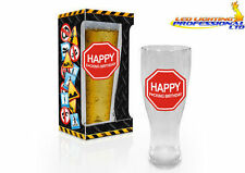BEER GLASS PINT BIRTHDAY GIFT PRESENT FUNNY RUDE CHEEKY - HAPPY F*CKING HARDCORE