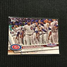 2017 TOPPS OPENING DAY #86 ADDISON RUSSELL PHOTO VARIATION CHICAGO CUBS