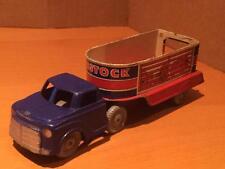 Wells Brimtoy Pocketoys 465 Livestock Cattle Truck tinplate plastic fricton CG