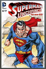 DC Sketch Cover SUPERMAN UNCHAINED Original Full Artwork by Artist DAMON BOWIE