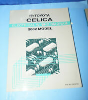 2003 Toyota Celica Electrical Wiring Diagram Service Manual Ebay