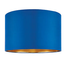 Endon Boutique lampshade 16 inch Midnight blue silk gold 250mm H x 400mm D