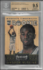 ANDREW WIGGINS 2014-15 Panini Threads WOOD Rookie RC Card BGS 9.5 GEM MINT!! 1/1