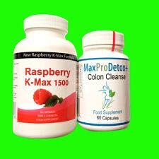 90 Raspberry Ketone Plus 60 Colon Cleanse Capsules