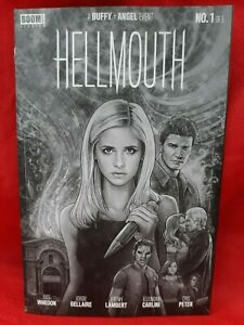 Hellmouth #1 Buffy Angel CBLDF Variant- Lambert, B&W, Joss Whedon, 2019, VF/NM!