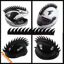 Motorcycle Biker Helmet Decoration Black Rubber Mohawk Sticker Riding Ski Racing