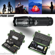 Superhell X800 5000LM Taschenlampen LED Zoom Militär Torch G700 18650 Ladegerät