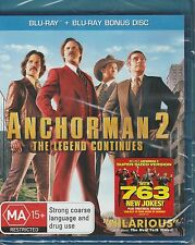 ANCHORMAN 2: The Legend Continues (2013) Blu-Ray ***BRAND NEW*** (2 disc set)