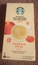 New listing New Starbucks Via Instant Pumpkin Spice Latte 4 Packets