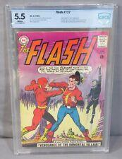 THE FLASH #137 (Vandal Savage 1st app,2nd SA JSA) CBCS 5.5 FN- DC Comic 1963 cgc