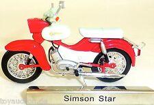 Simson Star Motorrad Mofa rot DDR 1:24 ATLAS 7168120 NEU OVP LA2 µ  √