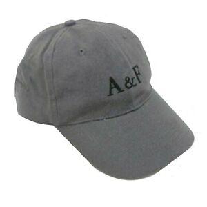 Abercrombie & Fitch Classic Cotton Adjustable 6 Panel Baseball Cap Grey