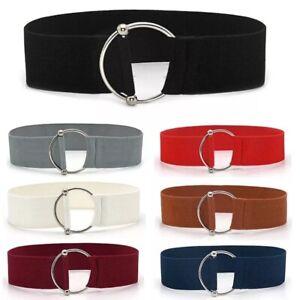 Womens Ladies Belts Stretch Elastic Waist Belt Fashion Cinch Classic Gift UK