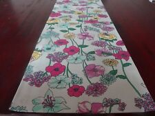 Table Runner 34 X180cm Floral Pattern - Pinks Blues Green and Yellow 'delight'