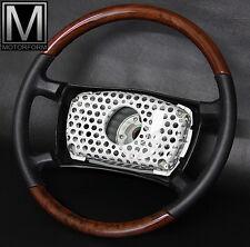 Original !! Mercedes 560SL 500SL 300SL W107 Wurzelholz Lederlenkrad Holz Lenkrad