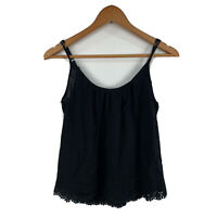 Superdry Womens Cami Tank Top Size Small Black Sleeveless