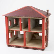 "Vintage 5 Room Run Down Haunted Possessed Doll House Folk Art Americana 21"" T"