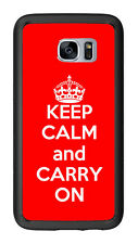 Red Keep Calm and Carry On For Samsung Galaxy S7 G930 Case Cover by Atomic Marke