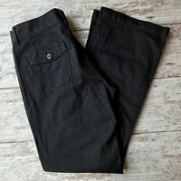 Lee Medium Black Midrise Boot Cut Lower On The Waist Stretch Trouser Pants 8