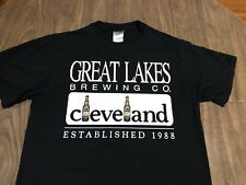 Vintage Great Lakes Brewing Micro Beer Cleveland Ohio Medium Black T Shirt