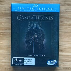 Game Of Thrones Season 1 Limited Edition w/ Featurette & Photobook Blu Ray DVD