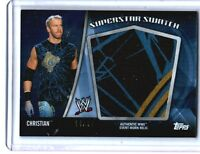 WWE Christian 2010 Topps Superstar Swatch Jumbo 3 Color Relic Card SN 14 of 30