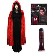 LADIES DELUXE VAMPIRE COSTUME RED HALLOWEEN FANCY DRESS WOMENS UK SIZES 6-24