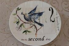 """Williams-Sonoma 12 Days of Christmas """"SECOND DAY"""" Salad Dessert Plate - NEW"""