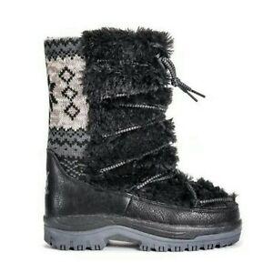 MUK LUKS Women's Massak Snowboots Fashion Boot Black - Size 6M Style# 16982 NEW