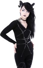 PENTAGRAM BLOUSE -Witchy Shirt with Pentagram O-Ring Harness – UK Size XXL - New