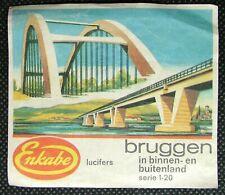 Matchbox large label Enkabe Lucifers Bruggen Germany 7.7 x 6.7 cm ML022