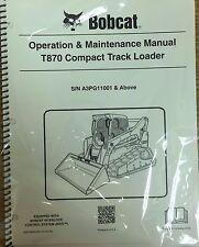 Bobcat T870 Track Loader Operation & Maintenance Manual Owner's 1 # 6987486