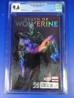 CGC Comic graded 9.6 death of wolverine #4 holofoil cover Key