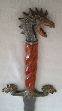 Jim Frost Cutlery Dragon Handle Sword With Sheath Double Edged Blade