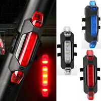 Cycling 5 LED USB Warning Rechargeable Bicycle Rear Lamp Bike Tail Light