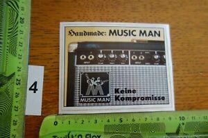 Alter Aufkleber Musikinstrument Gitarre MUSIC MAN