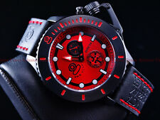 Invicta Men 48mm Red Combat NWO CCCP Sea Anchor Russian Grand Diver Strp Watch